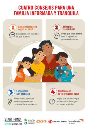 Cuatro consejos para una familia informada y tranquila