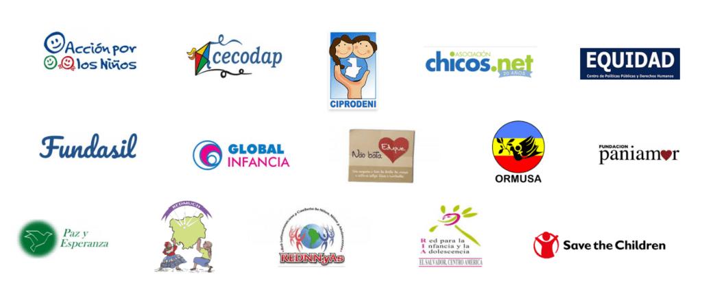 Logos de las organizaciones que forman parte del Programa de Apoyo a la Sociedad Civil (PASC)